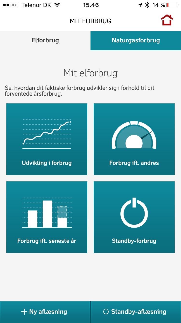 Dong Energy App Min Energi - Oversigt over elforbruget